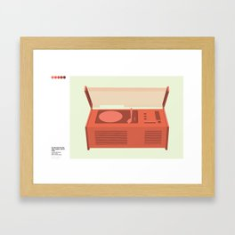 SK4 Record Player Sleeping Beauty's Coffin by Dieter Rams Framed Art Print