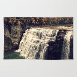 Waterfall in autumn Rug