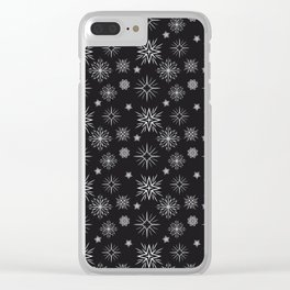 Grey Constellation Clear iPhone Case