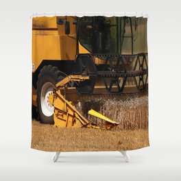 Combine harvester in detail Shower Curtain