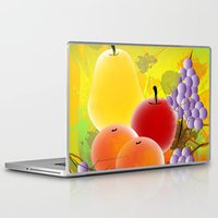 fruit Laptop & iPad Skins featuring Fruit by Ramon J Butler-Martinez