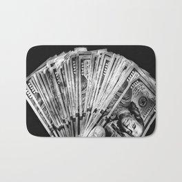 Money - Black And White Bath Mat