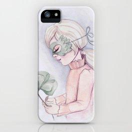 Girl Holding Flower iPhone Case