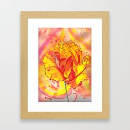 Beltane fire Framed Art Print