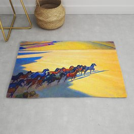 Maynard Dixon Wild Horses Rug