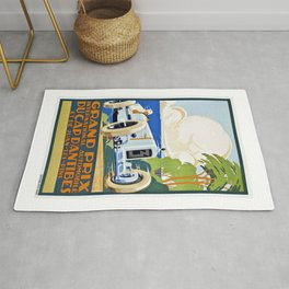 1929 Cap D'Antibes France Grand Prix Racing Poster  Rug