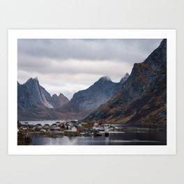 Reine soft light, Lofoten Art Print