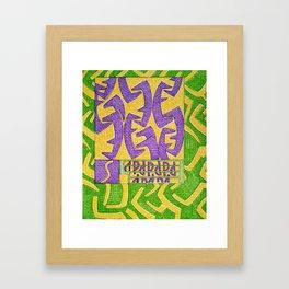 Stressa- Goddess of worry and anxiety Framed Art Print