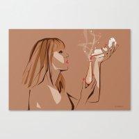 ursula Canvas Prints featuring Ursula by Elena Medero