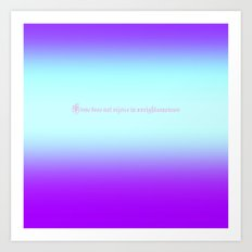 Re-Created  Color Field with LOVE 9 by Robert S. Lee Art Print