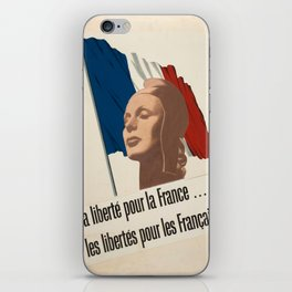 Vintage poster - La Liberte pou la France iPhone Skin