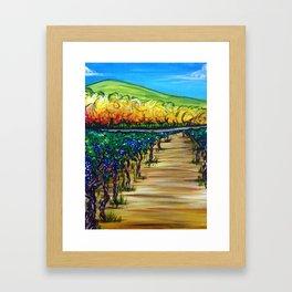 Vineyard Walk Framed Art Print