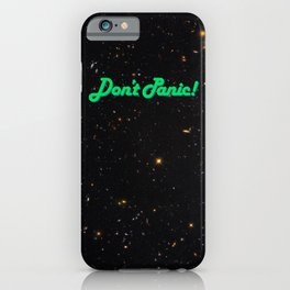 Don't Panic! in Friendly Green iPhone Case