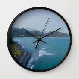 kaikoura oceanview mountains effect panorama new zealand Wall Clock