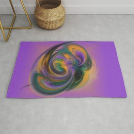 a child loves playing with colours Rug
