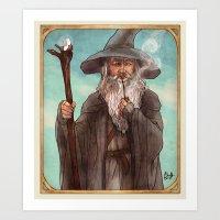 gandalf Art Prints featuring Gandalf by Casey Shaffer