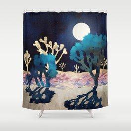 Desert Lake Moonlight Shower Curtain
