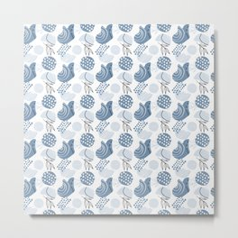 Blue abstraction minimalism pattern Metal Print