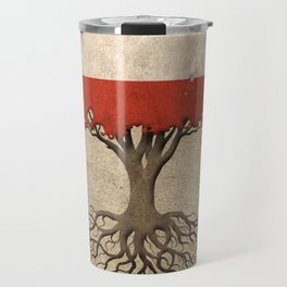 Vintage Tree of Life with Flag of Austria Travel Mug