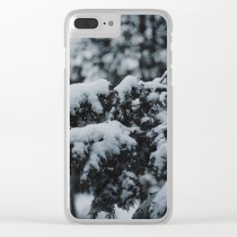 Portland Snowpocalypse II Clear iPhone Case