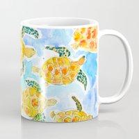 turtles Mugs featuring Turtles by Julie Lehite