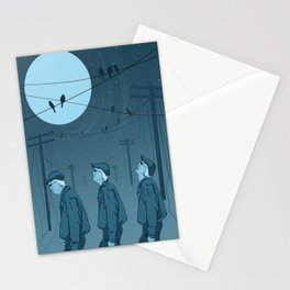 Birds and Men Stationery Cards