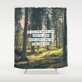 Dirt Paths Shower Curtain