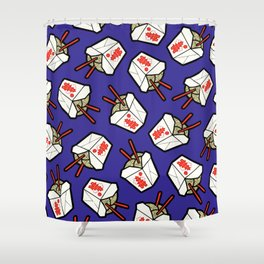 Take-Out Noodles Box Pattern Shower Curtain
