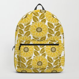 Sunflower Garden in Yellow Gold Backpack