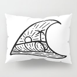 Wave in a Wave Pillow Sham