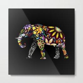Aztec Elephant Metal Print