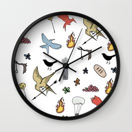 Hunger Game quality pattern - black version Wall Clock