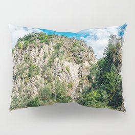 Carpathian Mountains View On Transfagarasan Road In Romania, Summer Landscape, Transylvania Mountain Pillow Sham