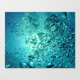 Thirsty Sprite Bubble Canvas Print