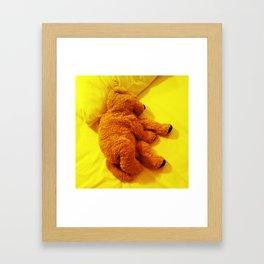 Love is... Teddy dog Framed Art Print