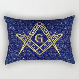 Freemasonry symbol Square and Compasses Rectangular Pillow
