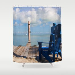 Blue Chair Islamorada Shower Curtain