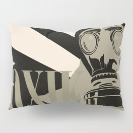 Art print: The gas mask pop art Pillow Sham