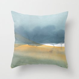 Swirling shadows Throw Pillow