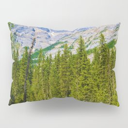 Mt. Robson and the Robson River in British Columbia, Canada Pillow Sham