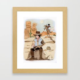 Steampunk Cowboy Framed Art Print