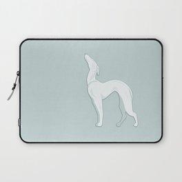 Big  White Ceramic Dog Laptop Sleeve
