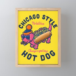Da Chicago Dog With Text Framed Mini Art Print