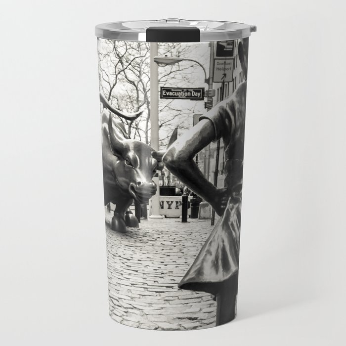 Fearless Girl & Bull - NYC Travel Mug