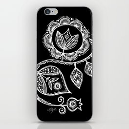 White Flower 15 iPhone Skin
