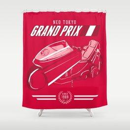 Neo Tokyo Grand Prix Shower Curtain