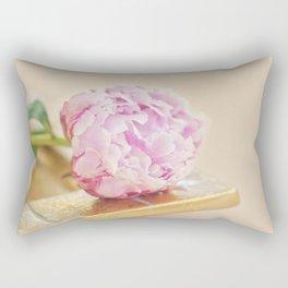 PEONY WITH GOLD Rectangular Pillow