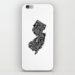 Typographic New Jersey iPhone Skin