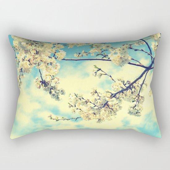"""""""Sweet Blossoms"""" Flower Photography Rectangular Pillow"""