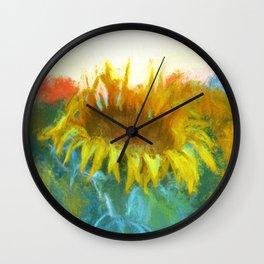 Sunflower Glow Artwork Wall Clock